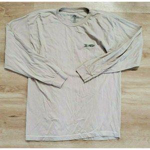 Aftco Mens Fish Long Sleeve Tan T-Shirt Large